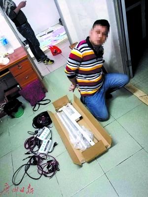 """""""安网12号""""的收网行动中珠海警方抓获的犯罪嫌疑人。"""