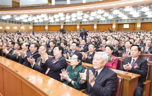 1月9日,中共中央、国务院在北京隆重举行国家科学技术奖励大会。 新华社记者 李学仁摄