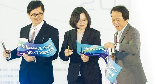台湾蔡英文:将打造智慧城市产业链